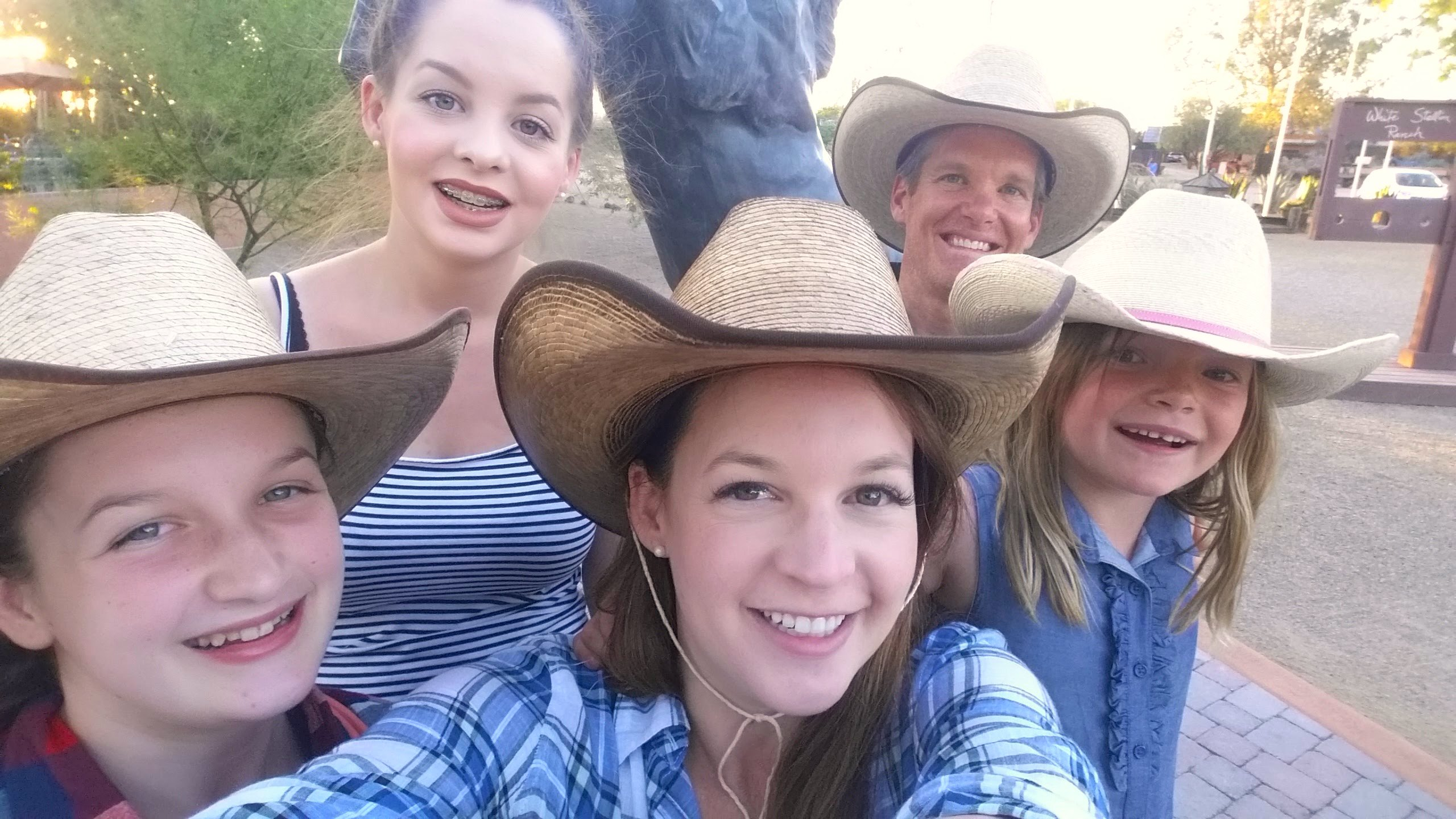 dude ranch selfie