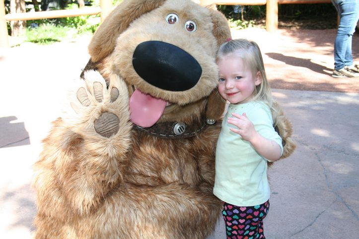 When Toddlers Finally Love to Meet Live Characters at Disneyland