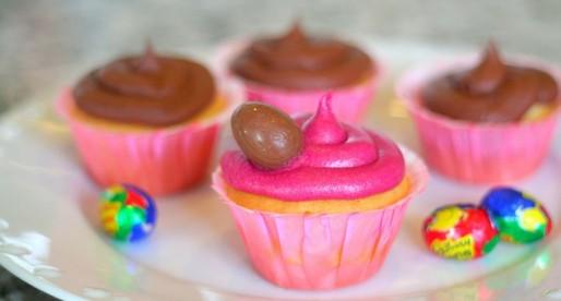 Cadbury Creme Eggs Easter Cupcakes