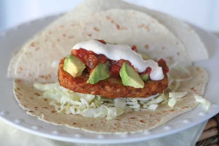 ... and Easy, Street Stand Potato Tacos with white sauce and avocado