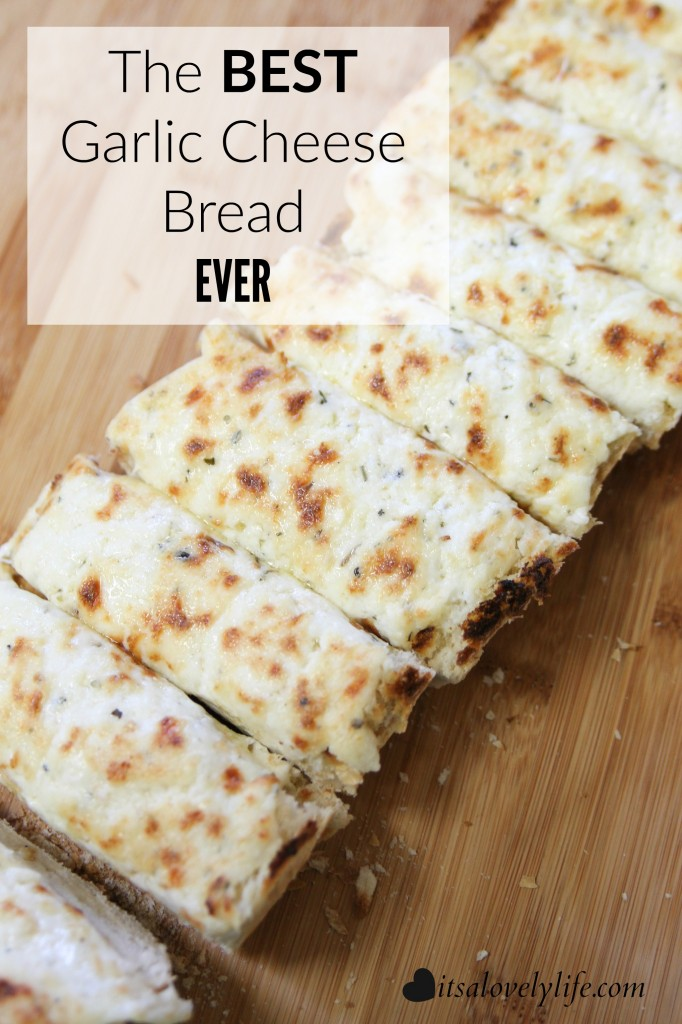 The Best Garlic Cheesy Bread Ever