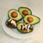 Mexican Style Stuffed Avocado with Salsa and Black Beans