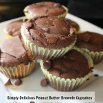 Simply Delicious Peanut Butter Brownie Cupcakes