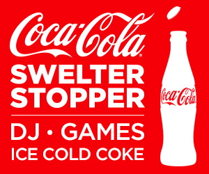 Come and see the Coca-Cola Swelter Stopper at Knott's Berry Farm May 3rd-8th!