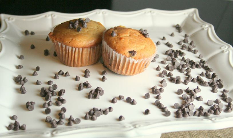 Chocolate Chip Cookie Dough Muffins