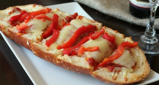 Boudin Sourdough French Bread Pizza Appetizer