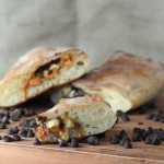 Peanut Butter and Double Chocolate Calzone