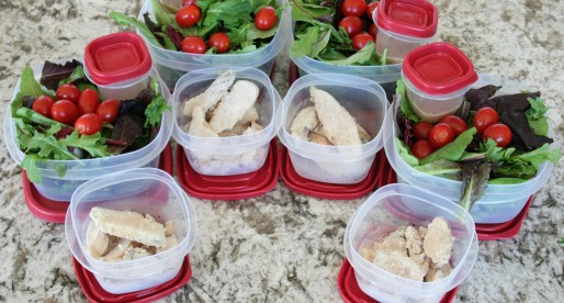 5 lunches, 5 minutes, $2 each and only 170 calories and 4 ingredients