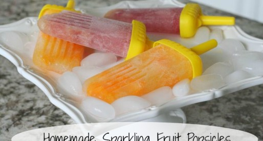 Homemade Sparkling Fruit Popsicles, Clementine and Fruit Cocktail