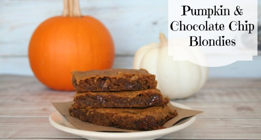 Pumpkin and Chocolate Chip Blondies… Oh my!