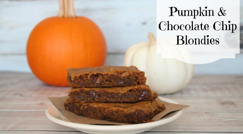 Pumpkin and Chocolate Chip Blondies… Oh my!