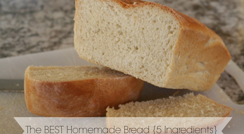 The Best Homemade Bread Recipe With Only 5 Ingredients (vegan)