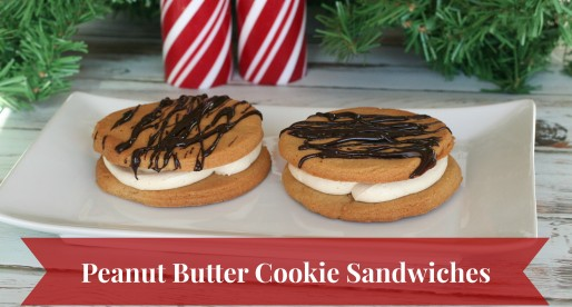 Peanut Butter Holiday Cookie Sandwiches