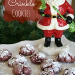 Soft Red Velvet Crinkle Cookies