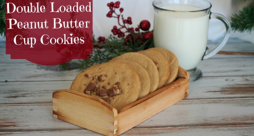 Double Loaded Peanut Butter Cup Cookies