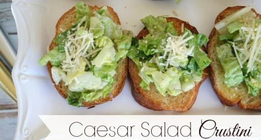 Caesar Salad Crustini