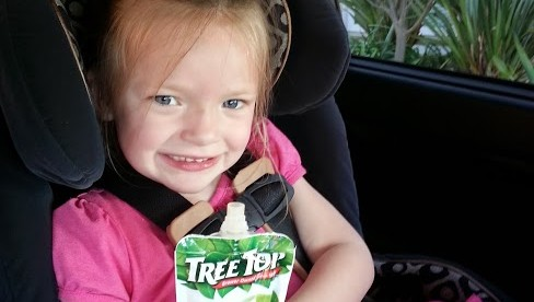 Tree Top Apple Sauce Pouches… Perfect snack for on the go!