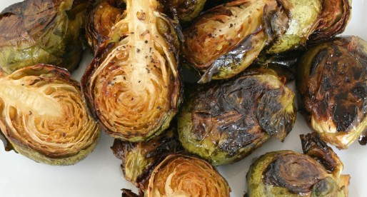 Brown Butter and Rosemary Roasted Brussel Sprouts {with vegan instructions too!}