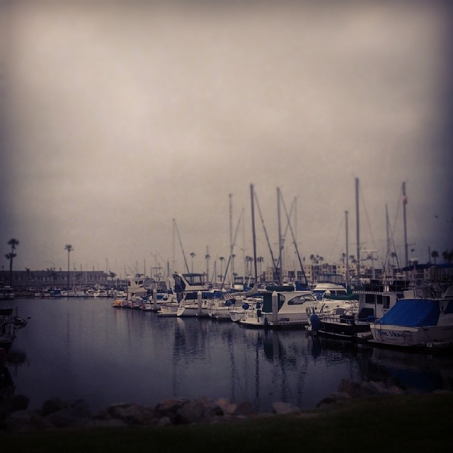 Love overcast #SanDiego days! #SoCal #boats #beach #oceanside #harbor