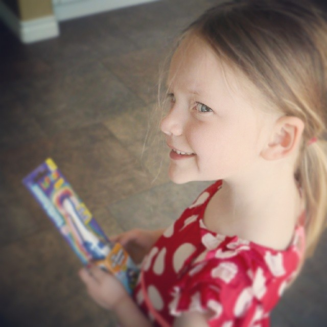 I love seeing this smile... especially when it's about a new toothbrush!  #parentingwin #toothtunes AD more on the blog today...