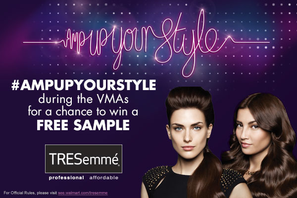 Join me! TRESEMME AMP UP YOUR STYLE TWITTER PARTY Aug. 24th 4:30pm