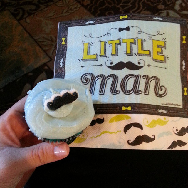 I'm going to be an aunt again! Little Man will be here next month... love this cupcake! #babyshower #baby #babyboy