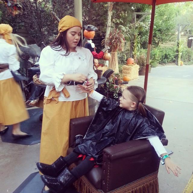 Pirate transformation under way! #HalloweenTime #Disneyland