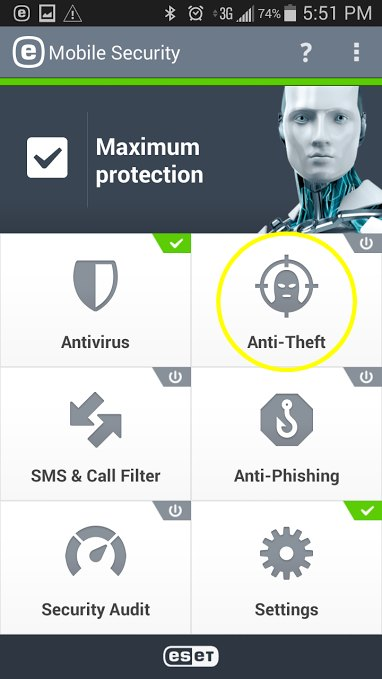 eset anti-theft