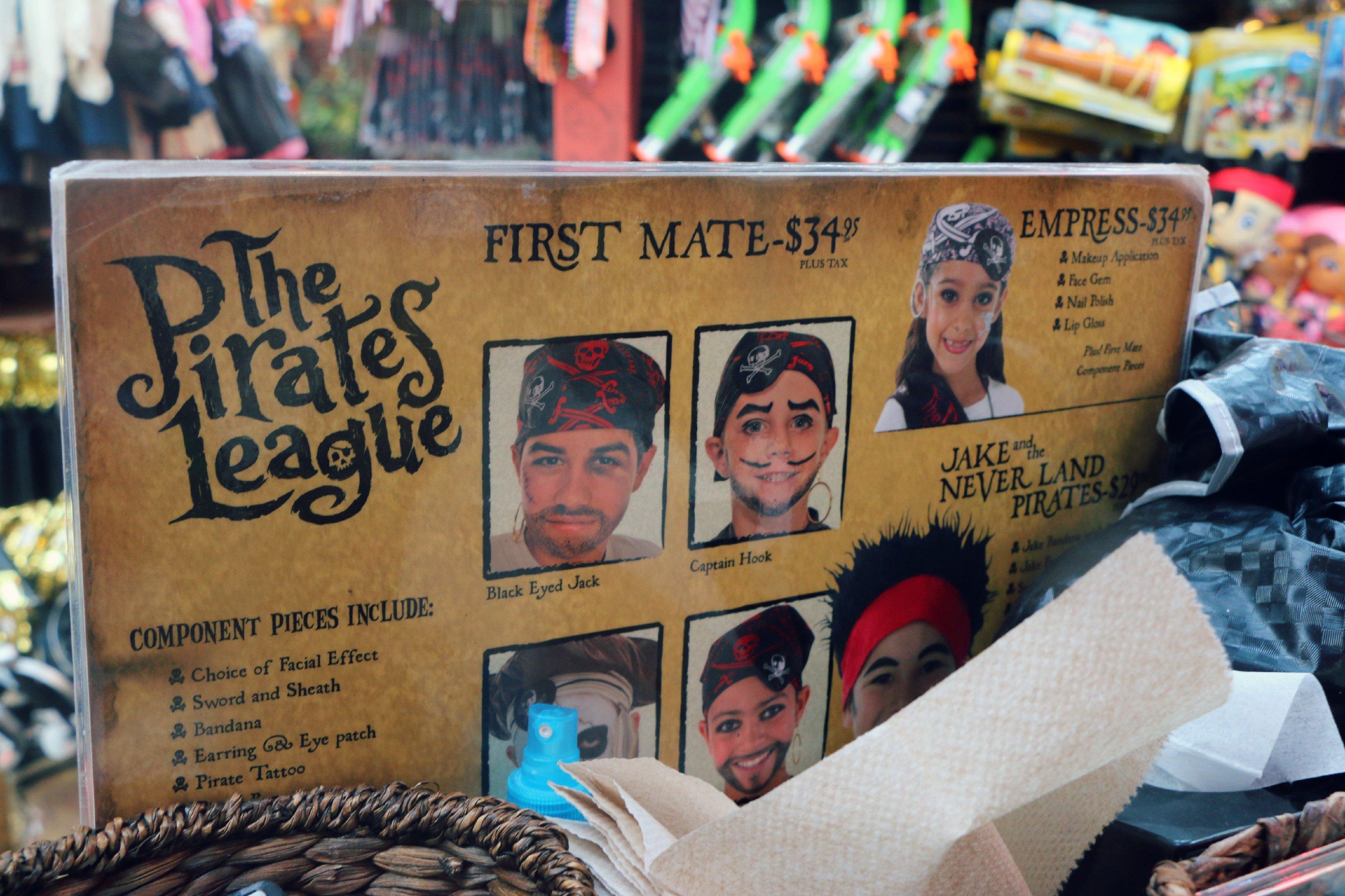 the pirates league disneyland prices