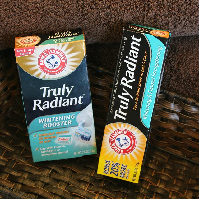 I got the last box at the store of the Arm & Hammer Truly Radiant Whitening Booster! Have you used it? I'm using it to whiten my teeth for an upcoming vacation! #TrulyRadiant  #ad