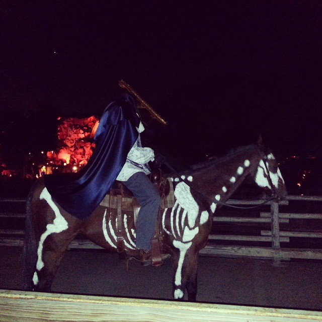 We saw the headless horseman.  Creepy! #scaryfarm