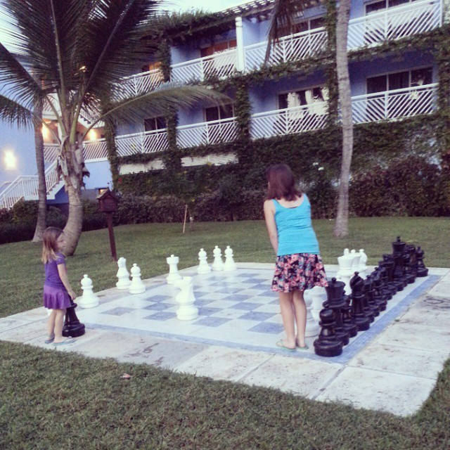 Someone plays a good game of lawn chess! @BeachesResorts #17 #BeachesMoms #BeachesGoSeek