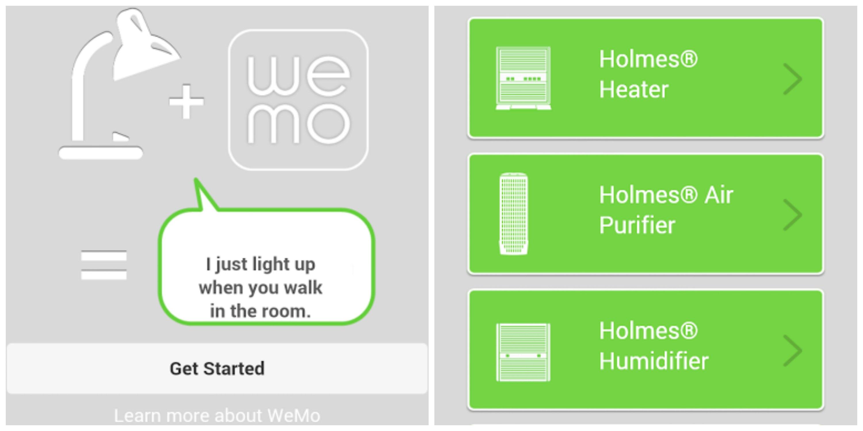 Holmes WeMo App