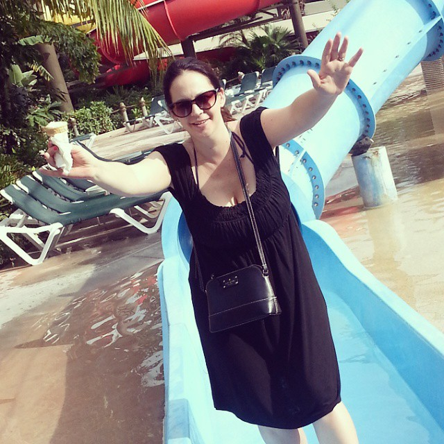 Testing out the Pirates Island Waterslide! @beachesresorts #15 #BeachesMoms #BeachesGoSeek