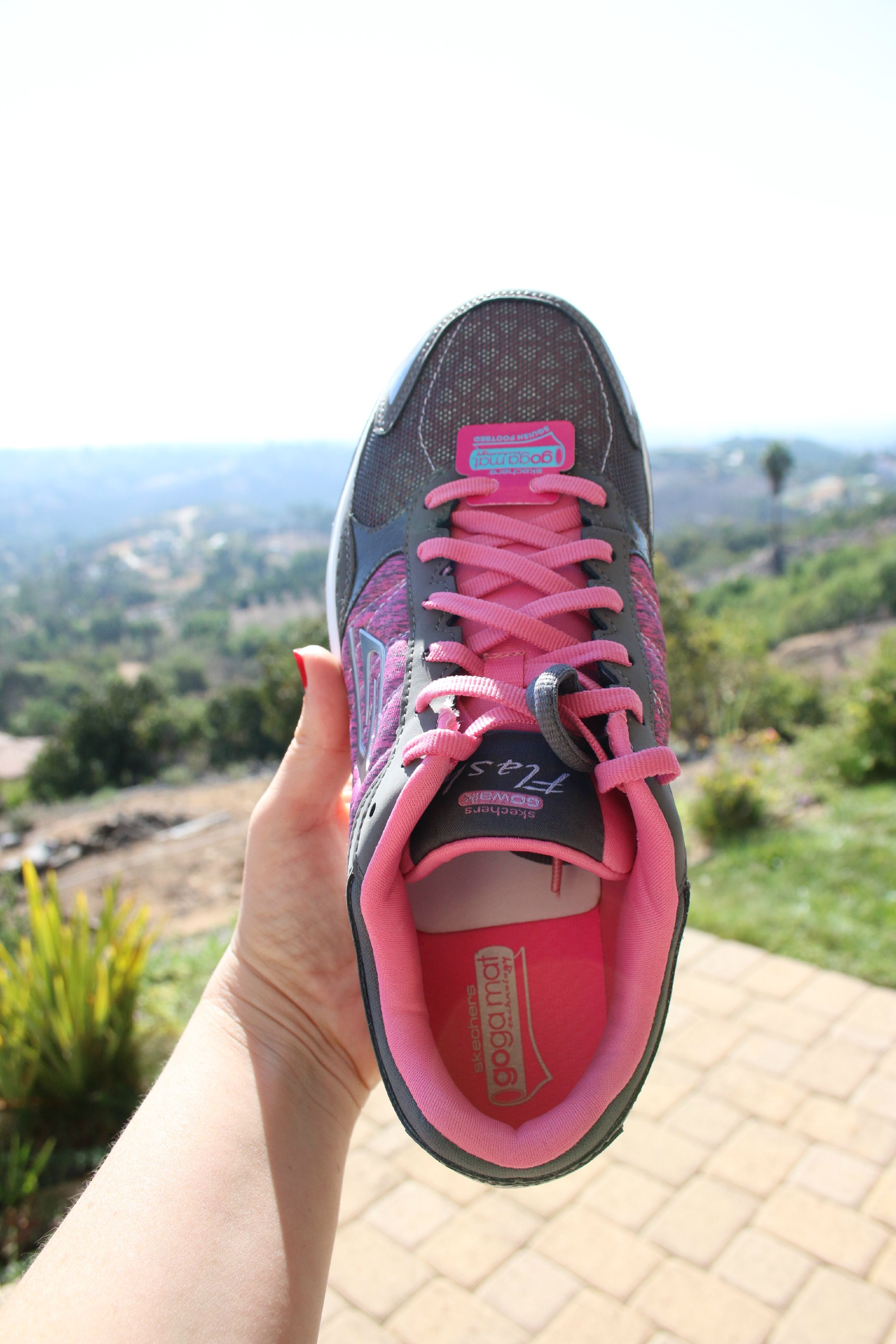 sketchers breast cancer walking shoes
