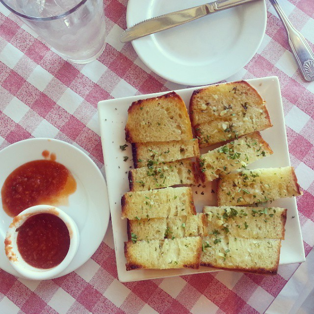 Paradise is finding sourdough garlic  bread that is the best you have ever had. #food #familytravel #Travel #Monterey