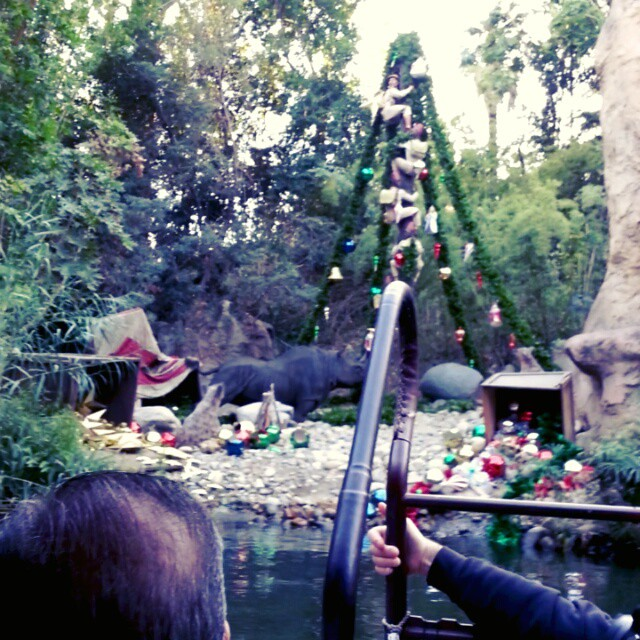 We survived the Jingle Cruise! #disneyholidays #Disneyland #Disney #justgotmerrier #JingleCruise