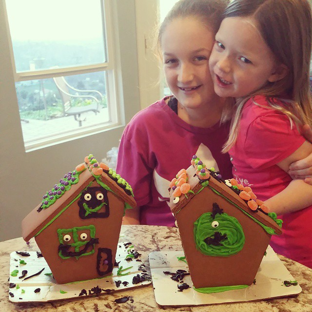 This is what happens when you forget to make packaged Halloween houses... they turn into Nightmare Before Christmas houses! #Disneyside #DisneyHolidays #DisneyNerds
