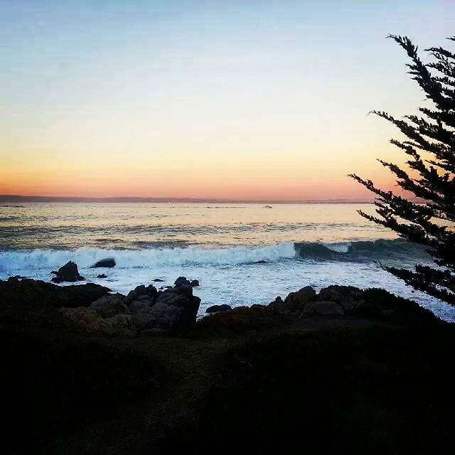 My favorite time of day is just before the sun sets... when all seems perfect in the world. When is your favorite time?  #beach #sun #nature #water #ocean  #instagood #photooftheday #beautiful #sky #clouds #fun #pretty #sand #reflection #amazing #beauty #beautiful #shore #waterfoam #seashore #waves #wave #monterey #pacificgrove photo credit: @reesepeter