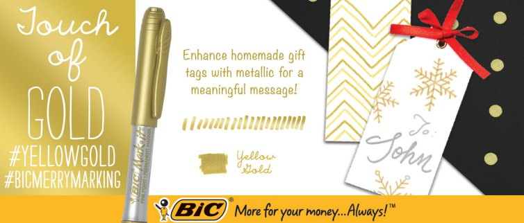 BIC enhance homemade gift tags