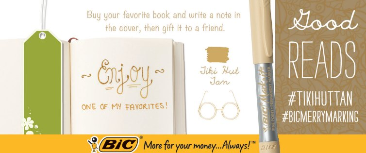 BIC personalize a book with a note