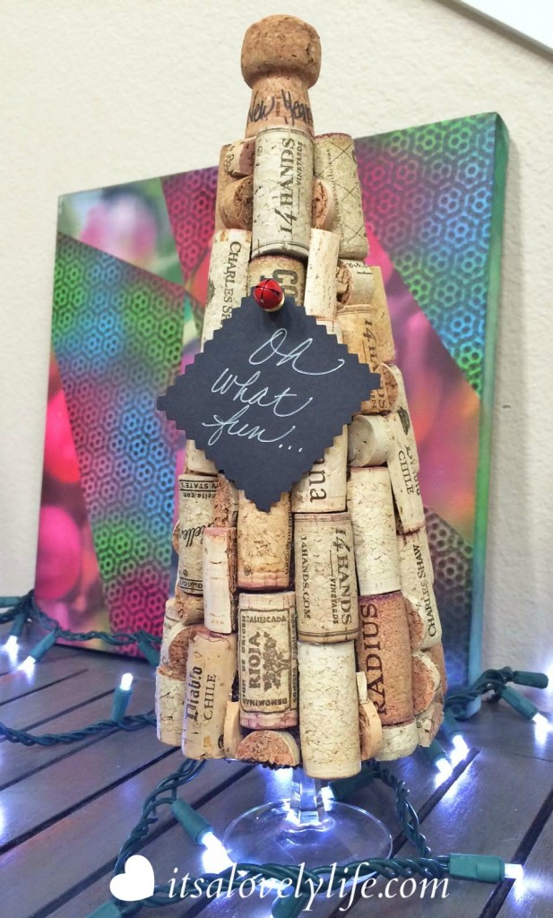Eclectic Christmas Tree with Wine Corks