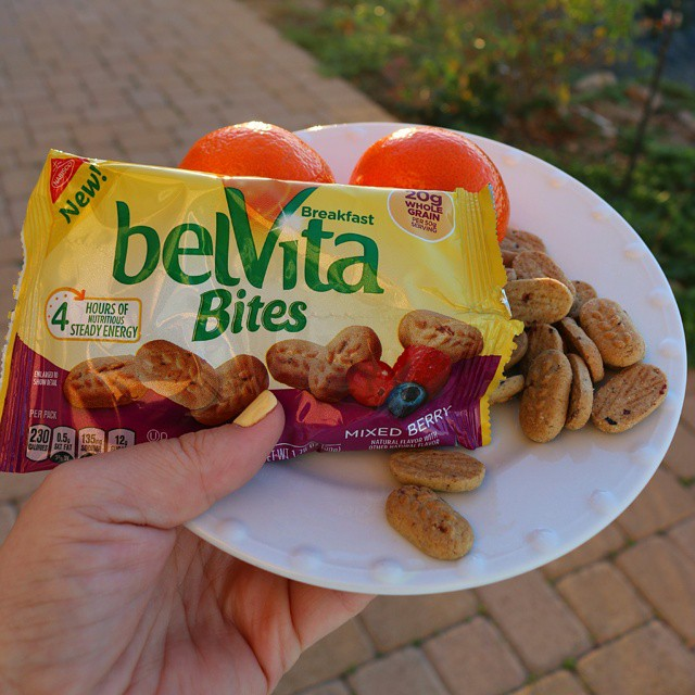What a lovely way to start the day! What are your plans for today? @belVita #ad #MorningWin