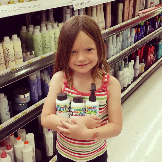 Another milestone reached! Picking out her own hair care products!  We found @socozy at Target! #SoCozyatTarget #bstat #ad