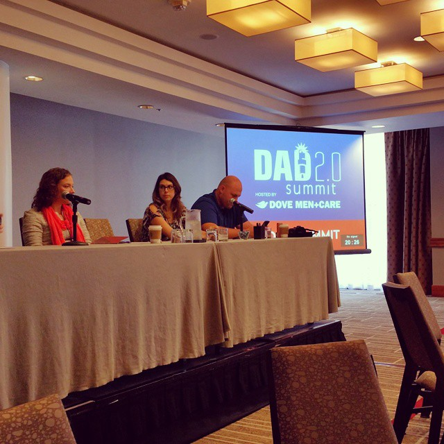 Yay! So happy to see my friends @somedayilllearn speak at #Dad2Summit