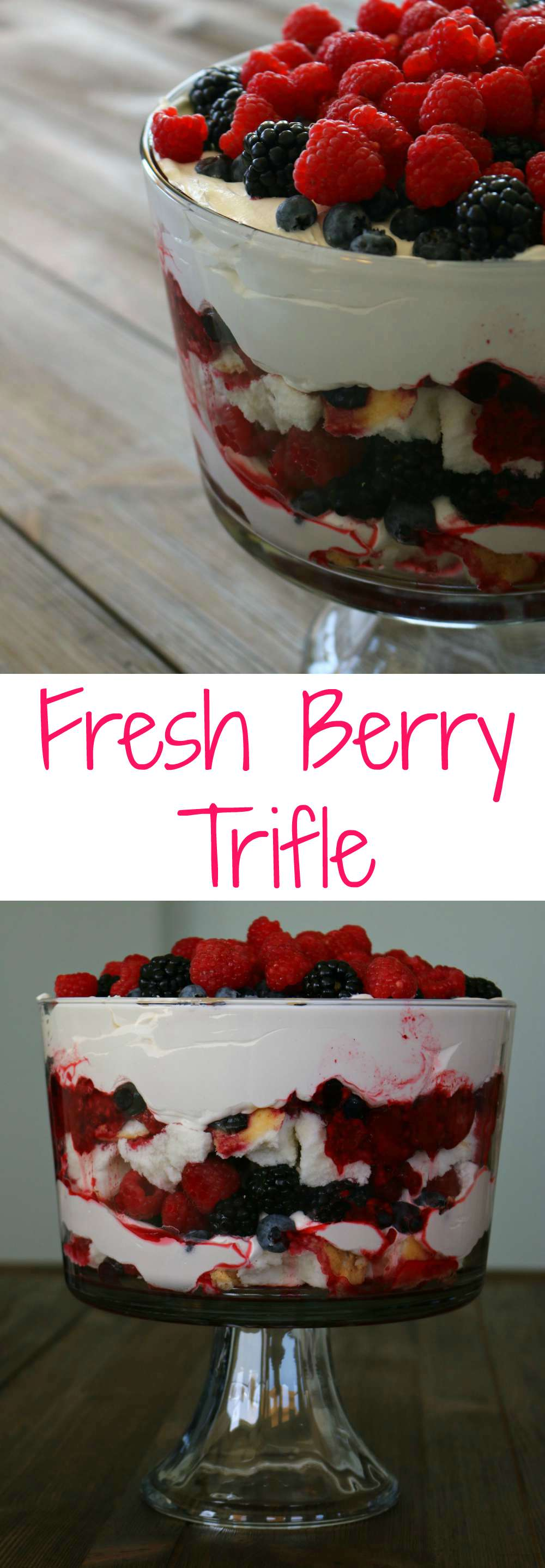 fresh berry trifle
