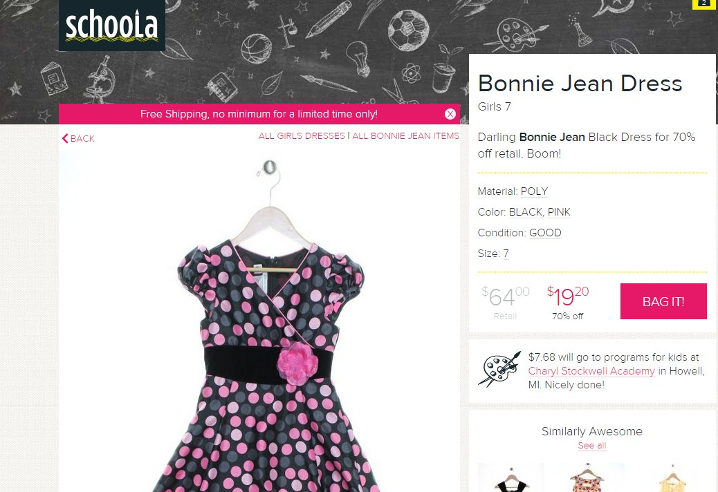 schoola dress
