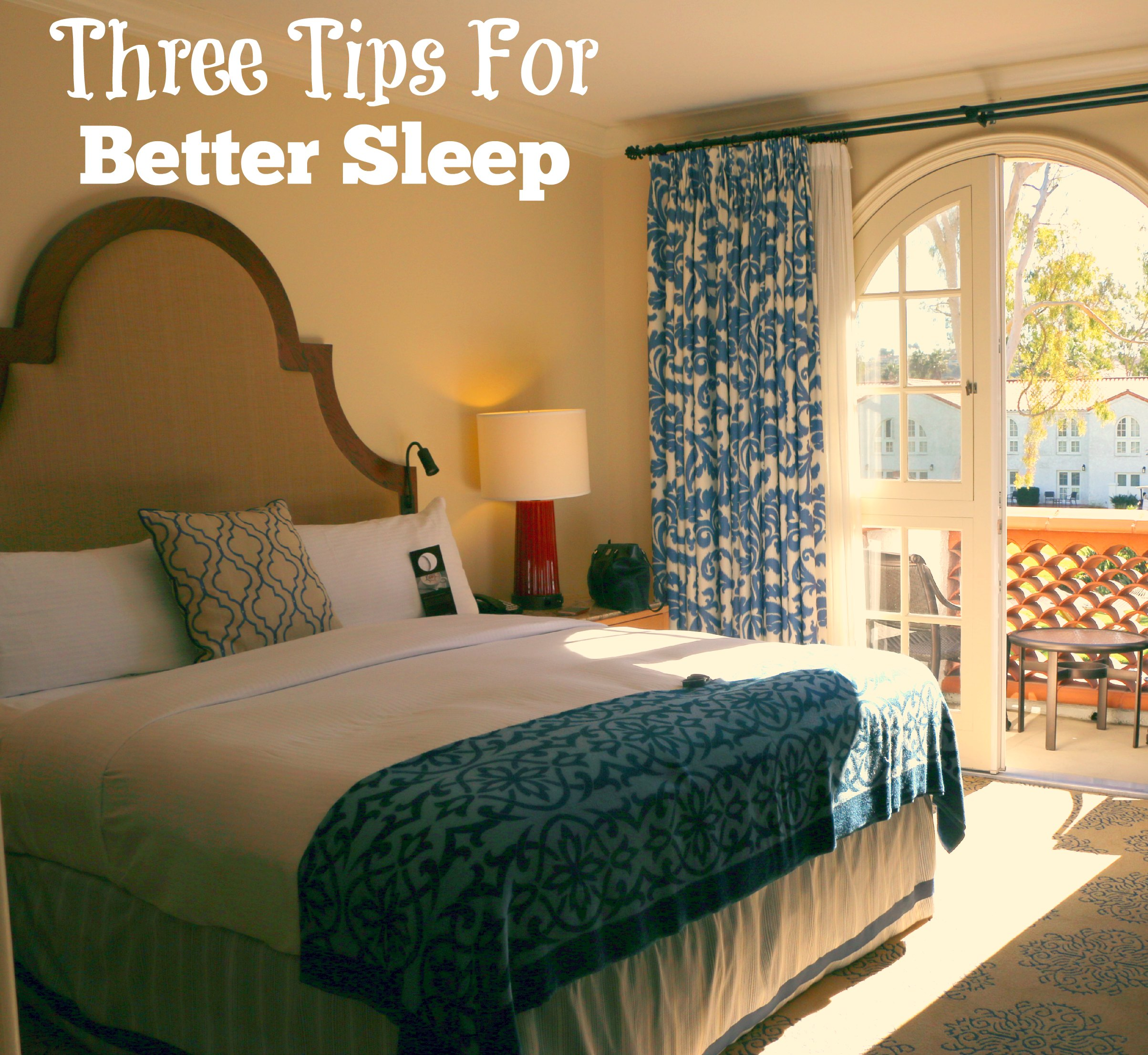 three tips for better sleep