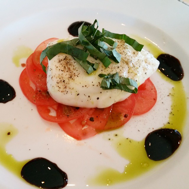 Memory from the Princess cruise at Sabatini's... Burrata alla Panna con Carpaccio di Pomodori... hand-formed cow's milk cheese with creamy lava center on tomato carpaccio, balsamic syrup. Amazing! #comebacknew ♡♡♡♡♡ #food #yum #instafood #yummy #amazing #instagood #photooftheday #sweet #dinner #lunch #breakfast #fresh #tasty #foodie #delish #delicious #eating #foodpic #foodpics #eat #hungry  #foods