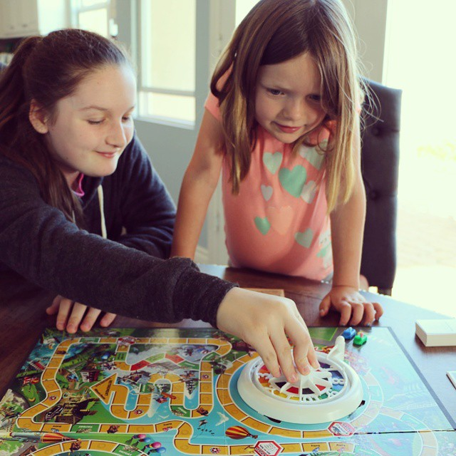 This has happened 3 times this week already. Do you  remember playing The Game Of Life when you were younger? It's fun watching my daughters enjoy it as much as I did! Plus they are having so much fun with the new careers! @hasbro #thegameoflife AD ♡♡♡♡♡ #instagood #photooftheday #happy #picoftheday  #igers #fun #bestoftheday